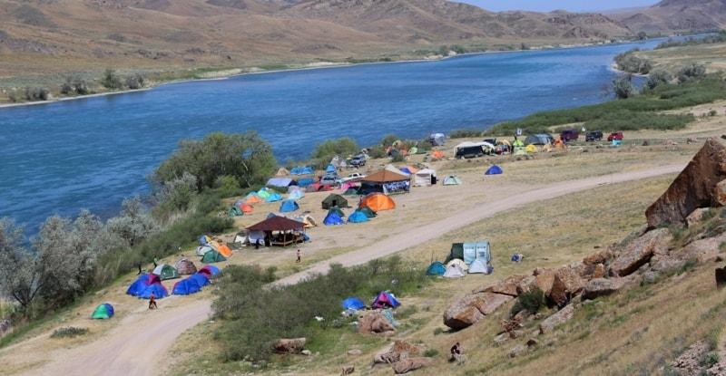 река Или Алматинская область отдых Казахстан