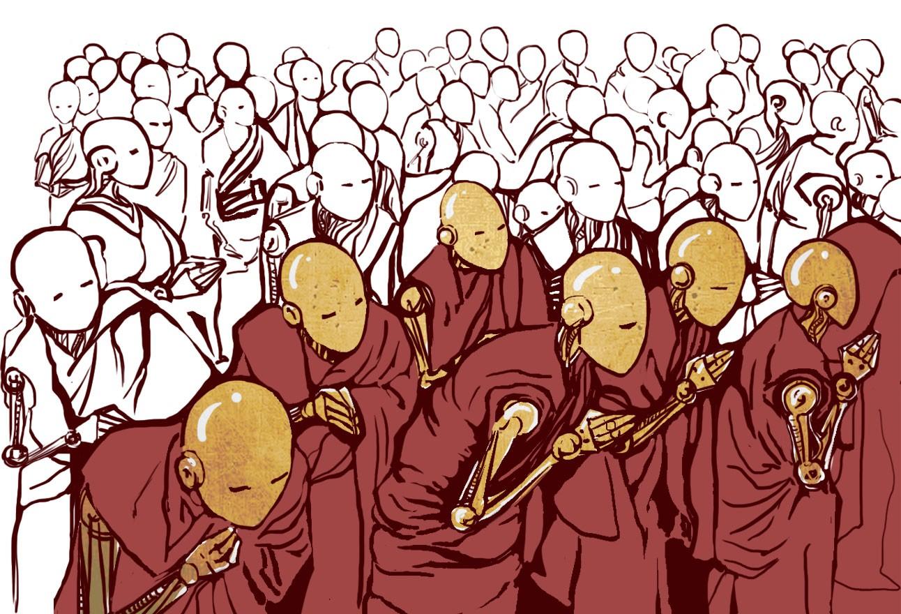 Каково это – учить буддийских монахов