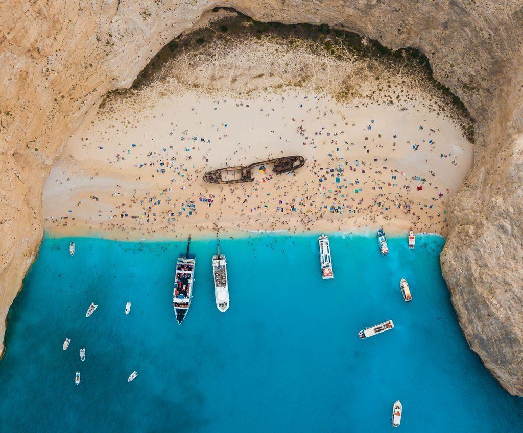 Ионические острова Греция Навайо кораблекрушение