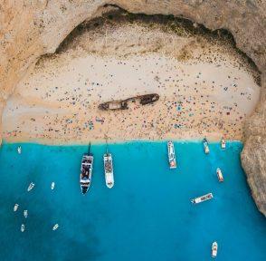 Панайотис Ионические острова Греция Навайо кораблекрушение