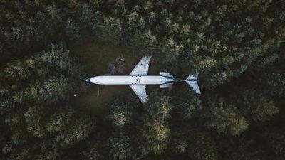 самолет Орегон Брюс Кемпбелл дом лес