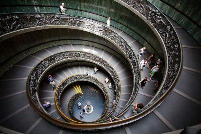 лестница Браманте Ватикан Пио-Клементе
