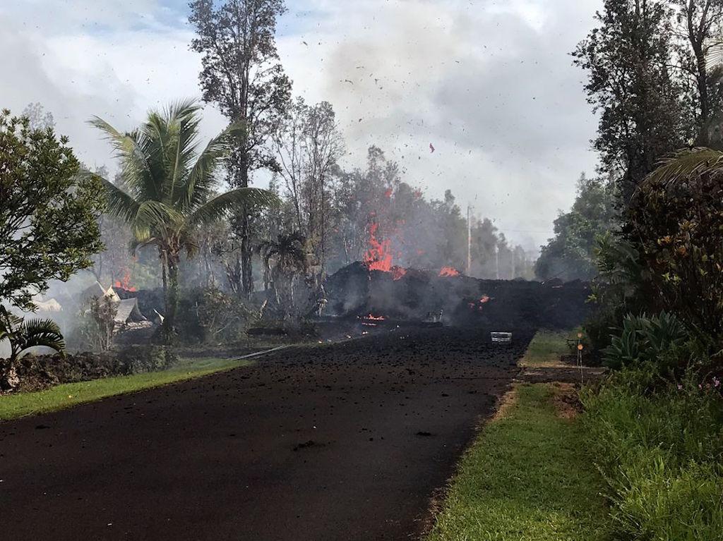 вулкан Килауэа Гавайи извержение