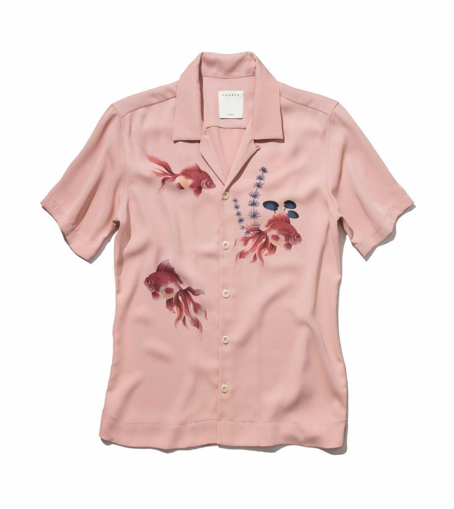 мода лето принт рубашки