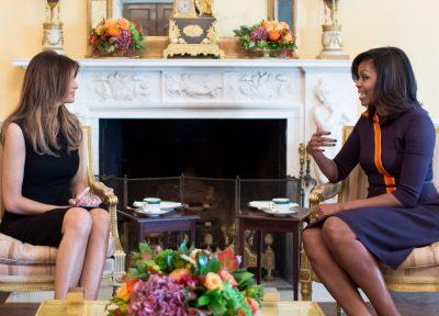Мелания Трамп Мишель Обама Белый дом США первая леди США политика нулевая терпимость фотография иммиграция Дональд Трамп