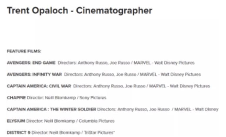 Мстители Трент Опалок кинематографист Marvel Avengers Доктор Стрэндж Тони Старк