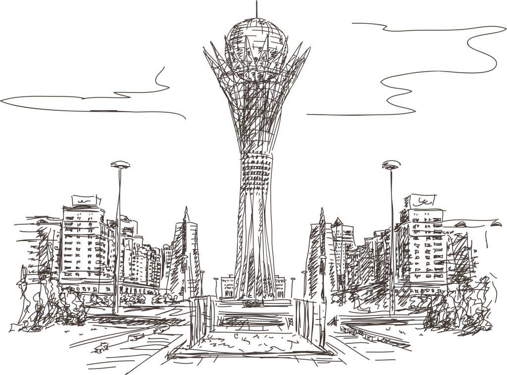 Астана Казахстан столица Байтерек