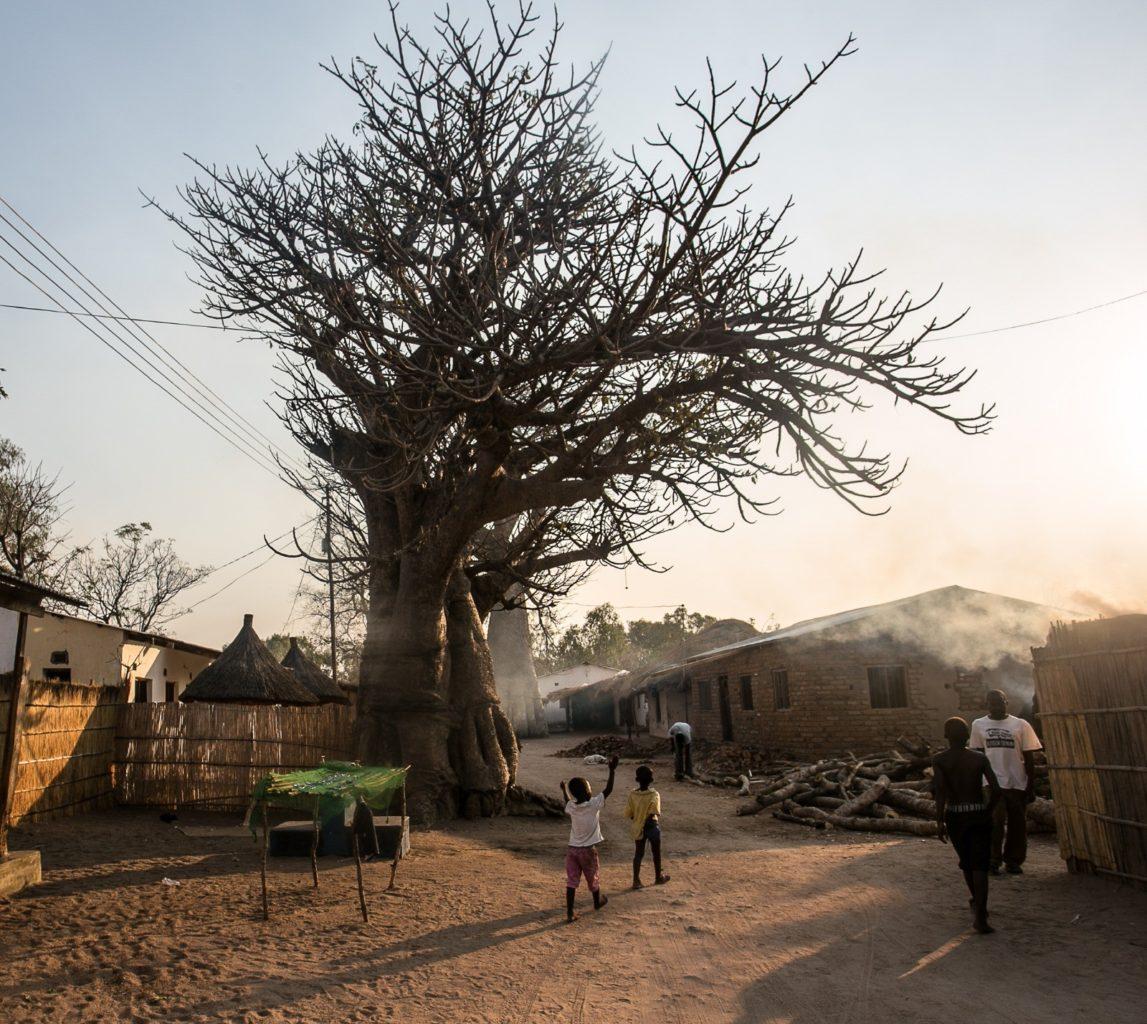 мужчины и мальчики Малави африканская деревня