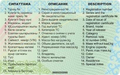 техпаспорт казахстан чипы обновления транспортные средства документы