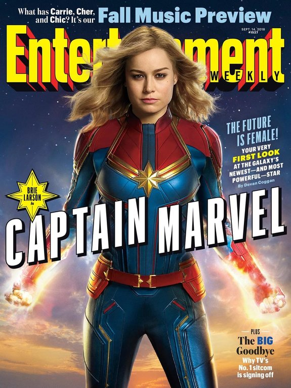 Капитан Марвел Бри Ларсон Кэрол Дэнверс Marvel Entertainment Weekly