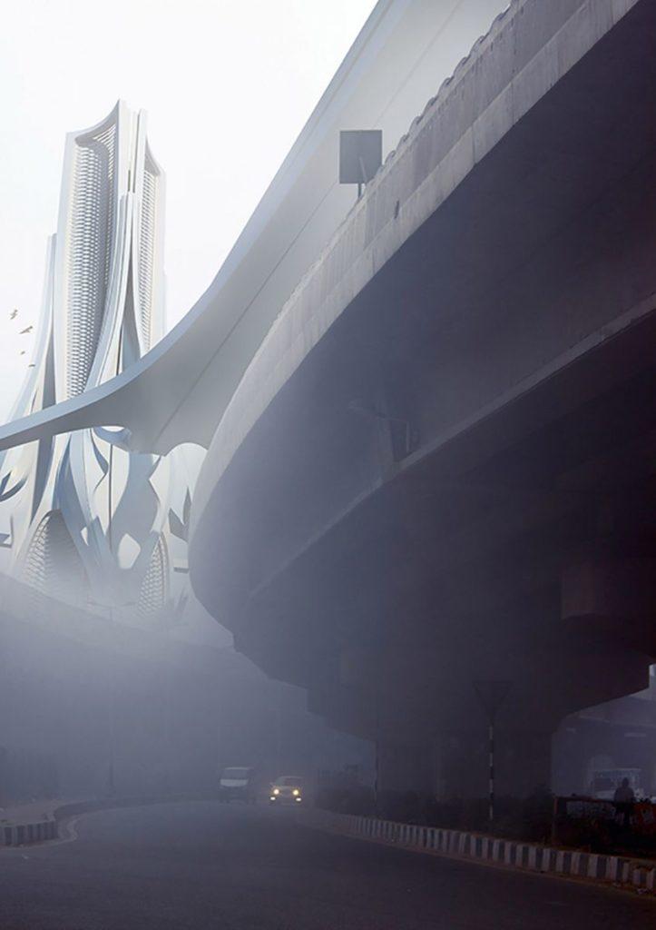 смог дели башни очищение воздуха загрязнение воздуха  воздух