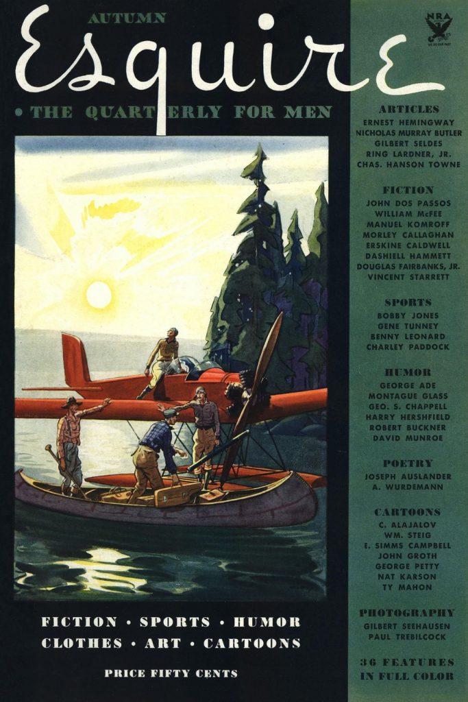 Esquire US обложка 1933 осень первый выпуск коллекция