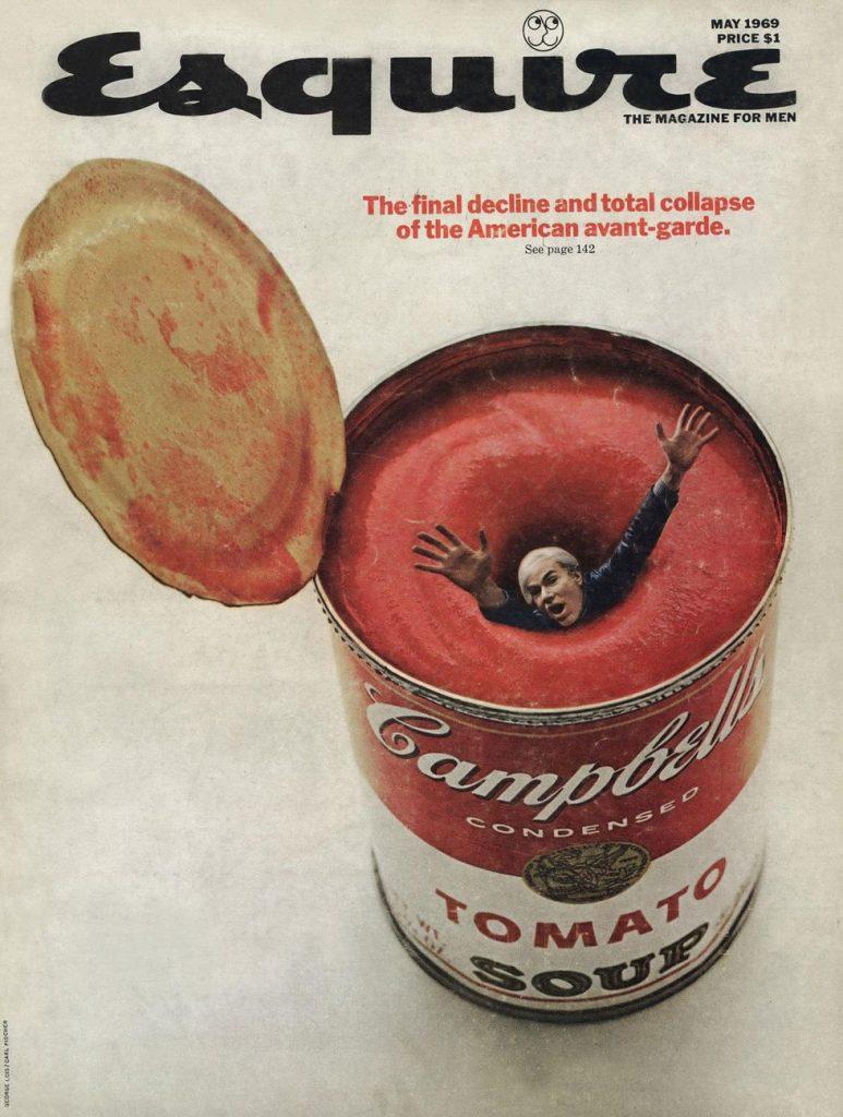 обложка Esquire US коллекция история Энди Уорхолл Кемпбелл суп