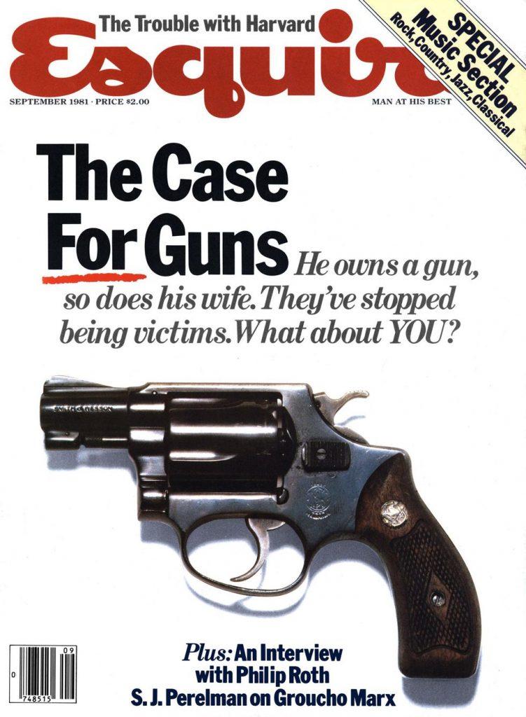 обложка Esquire US коллекция история оружие сентябрь 1981