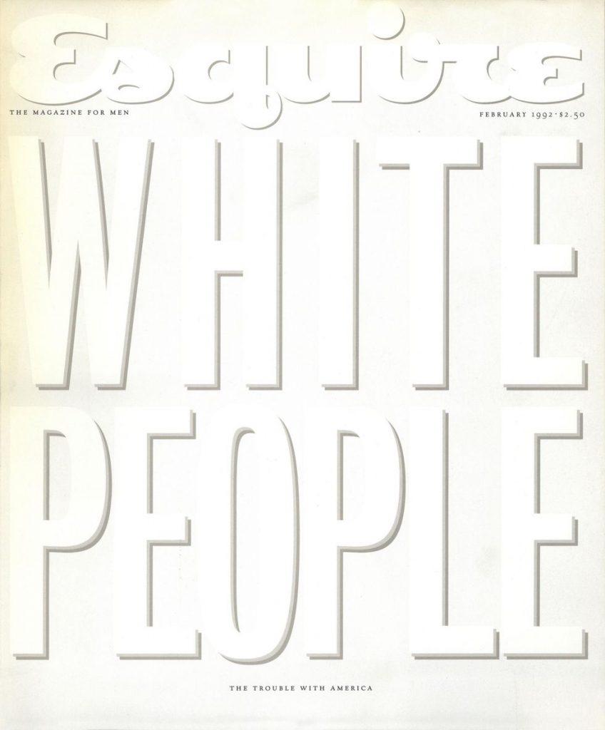 обложка Esquire US коллекция история белые люди
