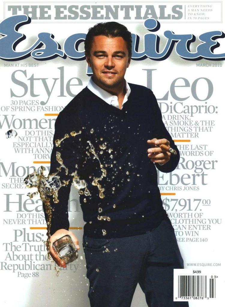 обложка Esquire US коллекция история леонардо дикаприо