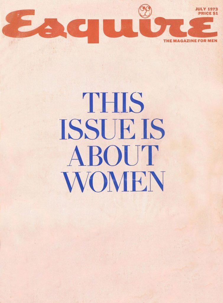 обложка Esquire US коллекция история июль 1973 женщины