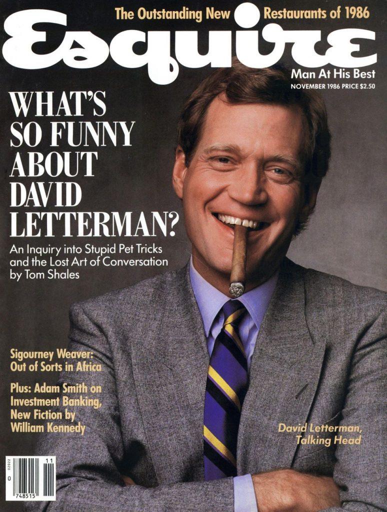 обложка Esquire US коллекция история Дэвид Леттерман