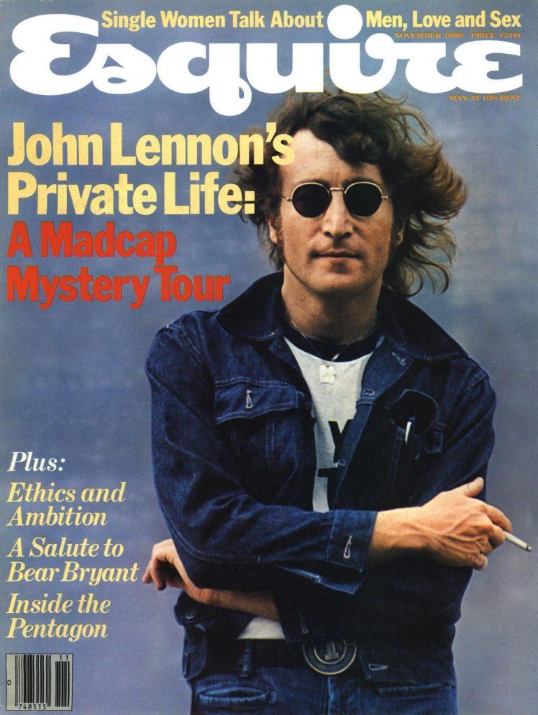 обложка Esquire US коллекция история Джон Леннон The Beatles ноябрь 1980