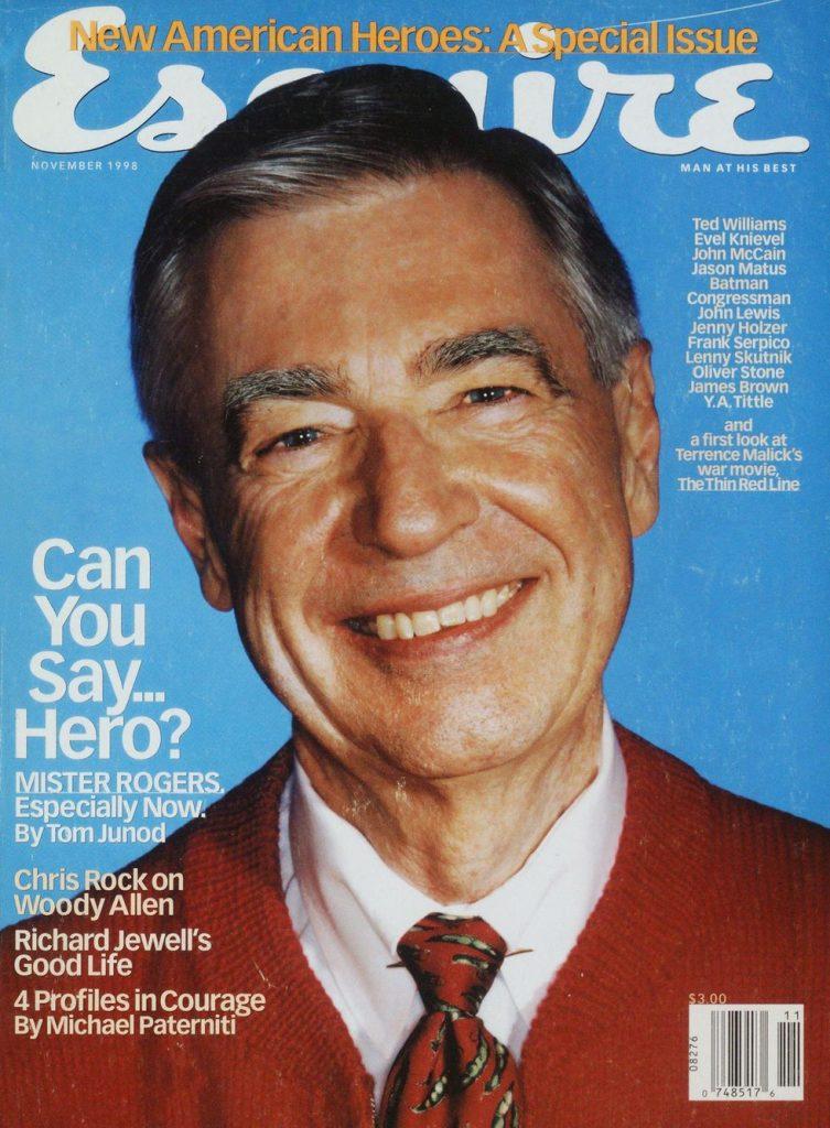 обложка Esquire US коллекция история мистер Роджерс