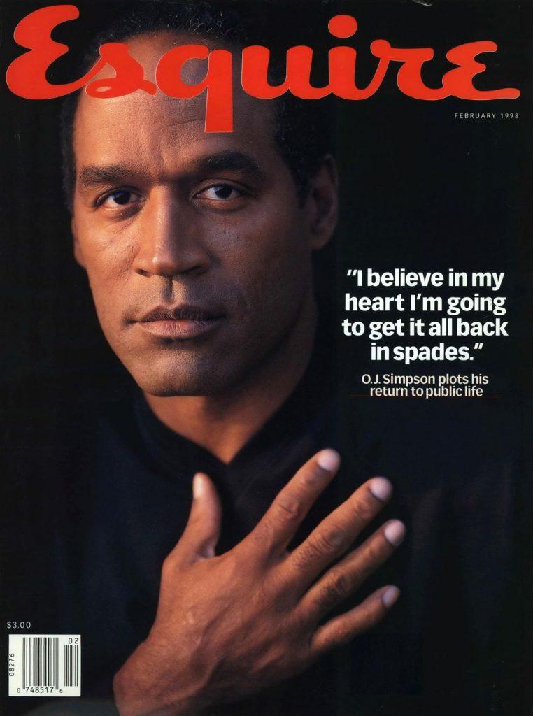 обложка Esquire US коллекция история О Джей Симпсон