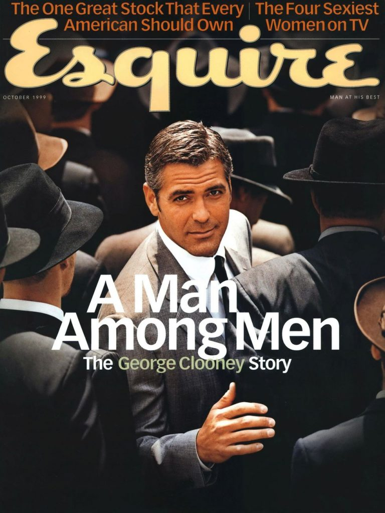 обложка Esquire US коллекция история Джордж Клуни 1999
