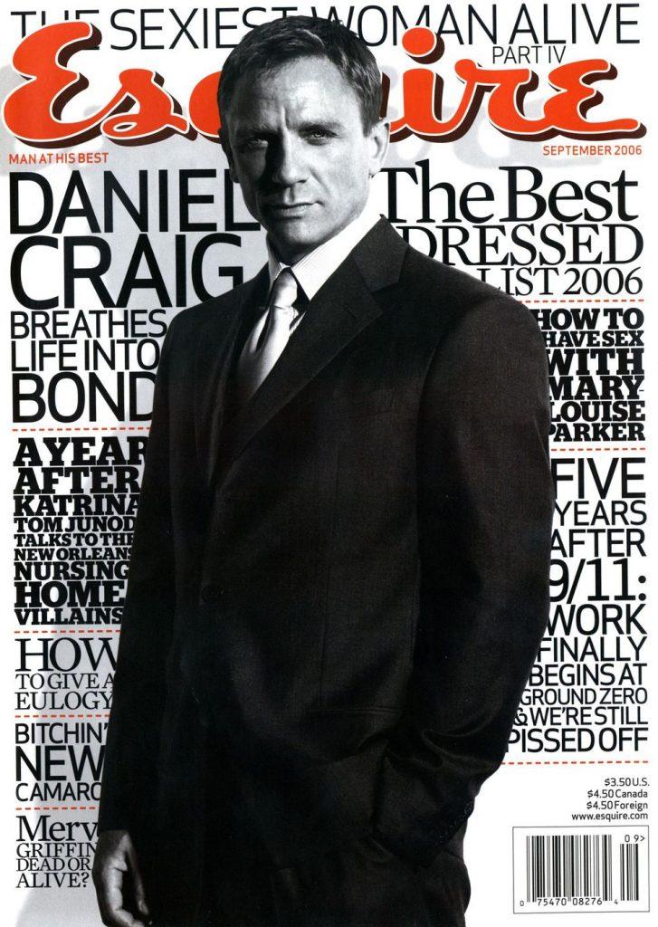 обложка Esquire US коллекция история Дэниел Крейг