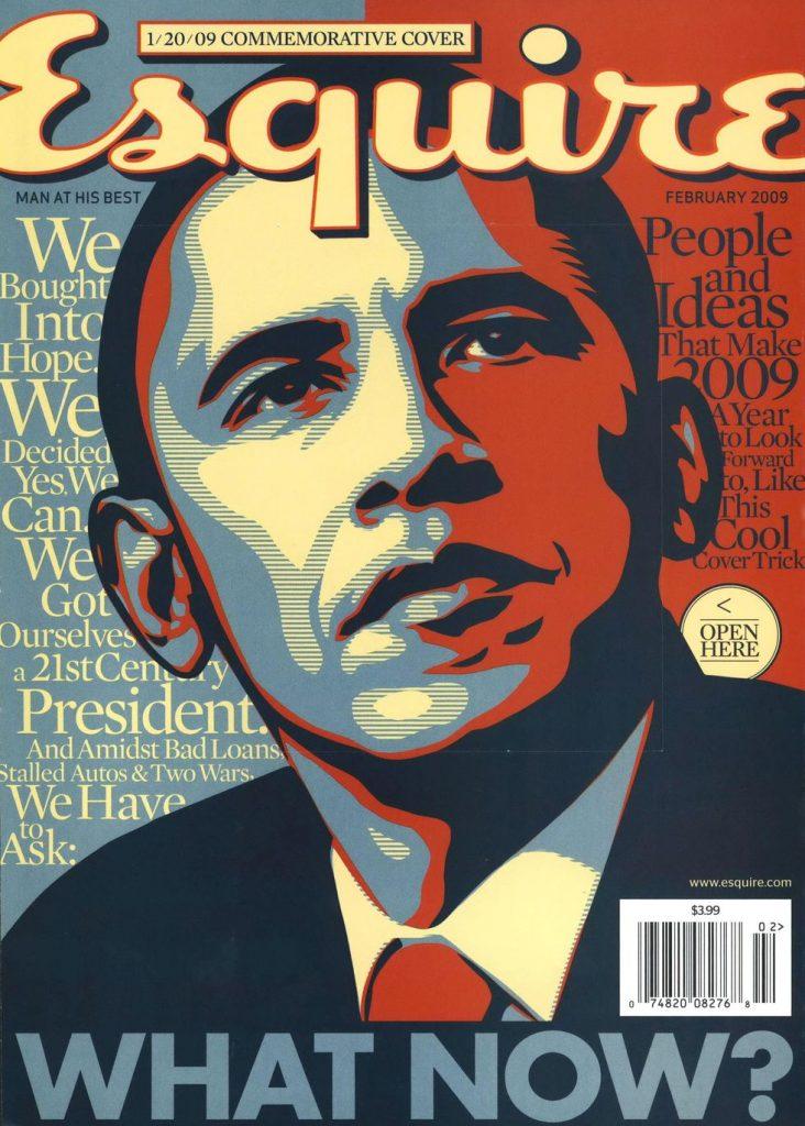 обложка Esquire US коллекция история Барак Обама президент сша