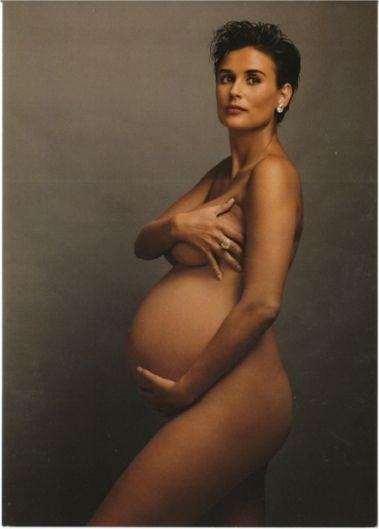 Деми Мур Vanity Fair беременность обложка Энни Лейбовиц портрет