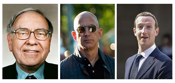 миллиардеры успешные люди CEO предприниматели тест Уоррен Баффет Джефф Безос Марк Цукерберг