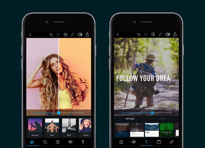 Adobe PS Express приложение обработка фото программа