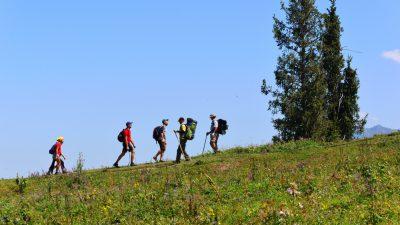 Кок-Жайляу осень Казахстан Иле-Алатауский парк горный курорт