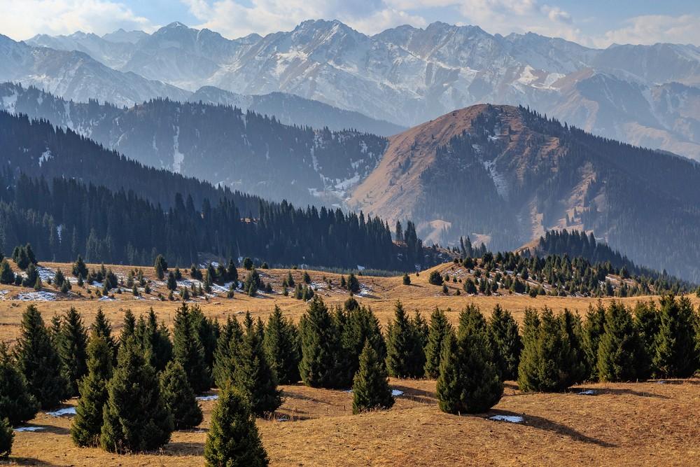 курорт на Кок-Жайляу осень Казахстан Иле-Алатауский парк горный курорт