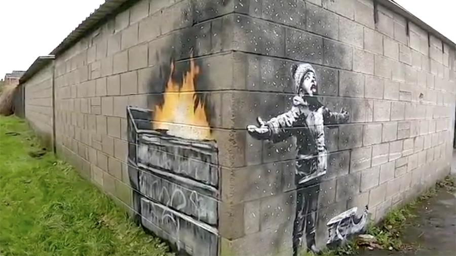 Бэнкси обратил внимание на вред индустриализации в новом граффити