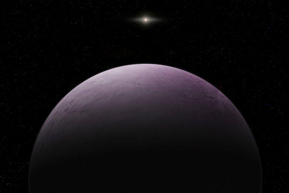 розовая планета 2018 VG18 космос