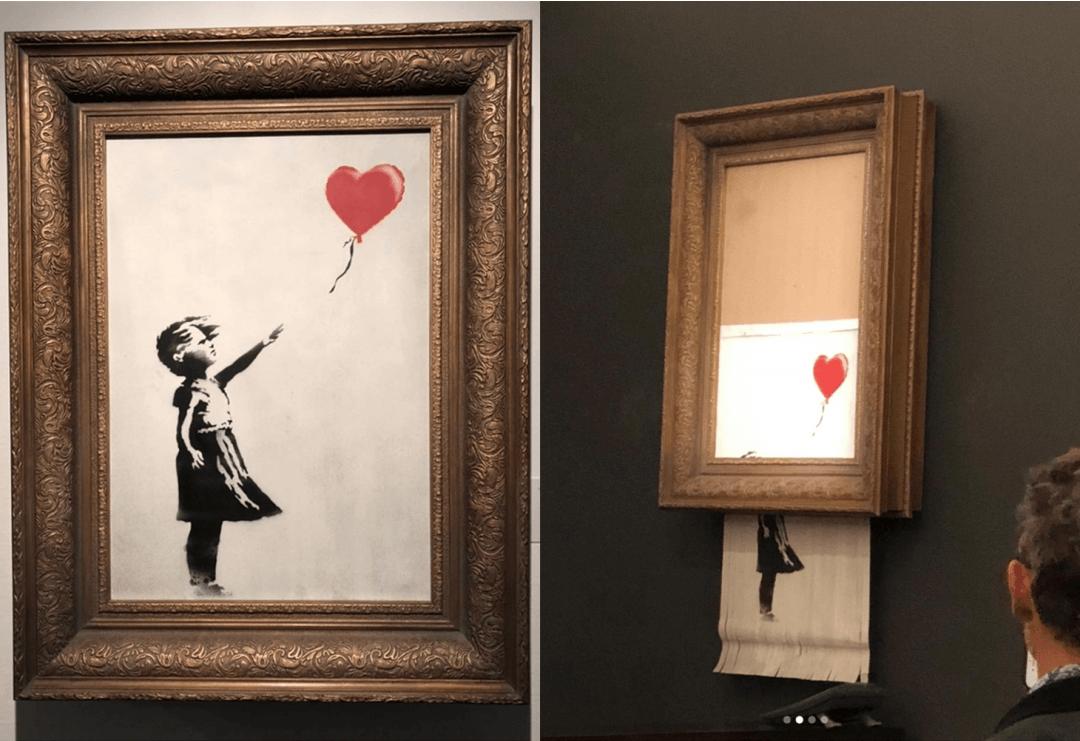 Изрезанную картину Бэнкси выставили в музее
