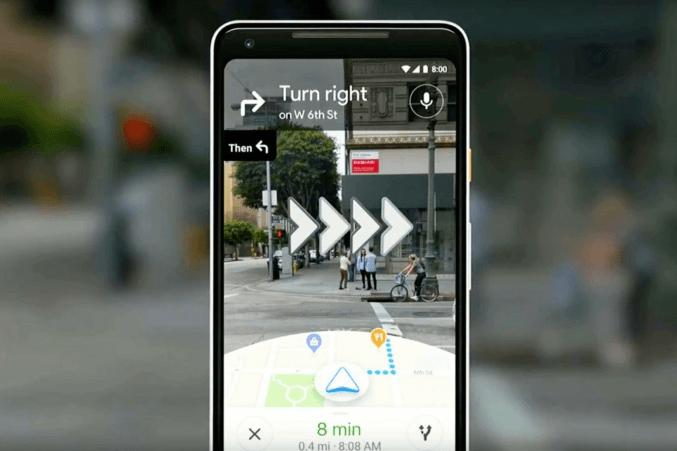 Google Карты для пешеходов будут работать в режиме дополненной реальности