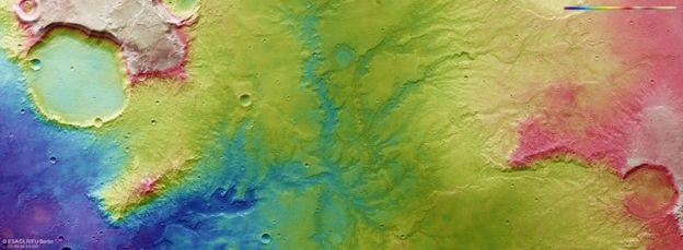 Марс система бурных рек вода Красная планета космос исследованиие наука