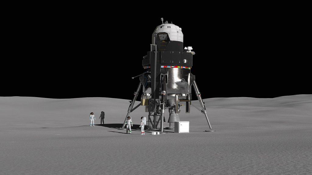 NASA 2028 Луна высадка космос исследование доставить на Луну