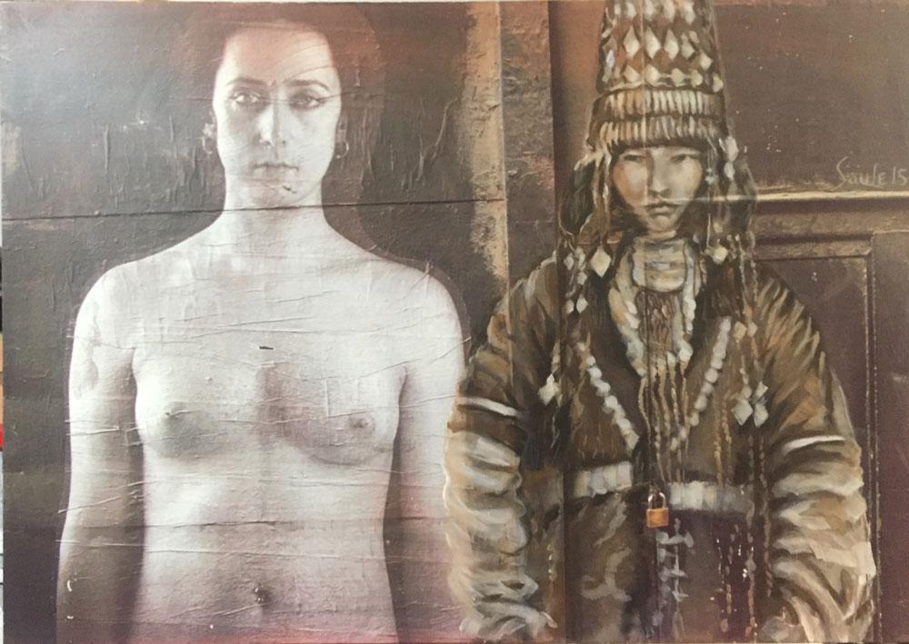 Сауле Сулейменова арт искусство Келин инсталляция