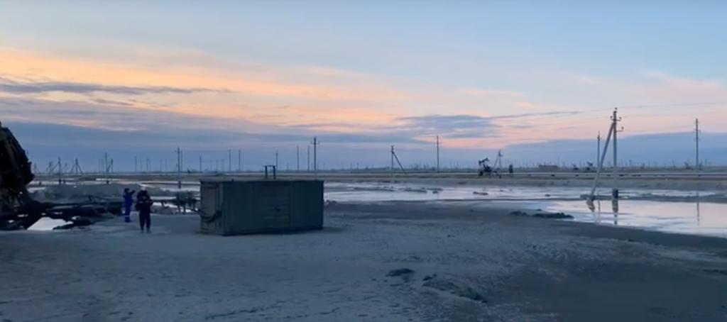 Каламкас Казахстан месторождение нефть пожар Мангистауская область добыча черное золото