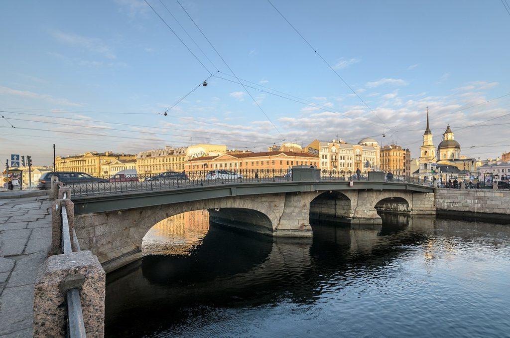 Питер ФМ путешествия Петербург Мост Белинского через Фонтанку