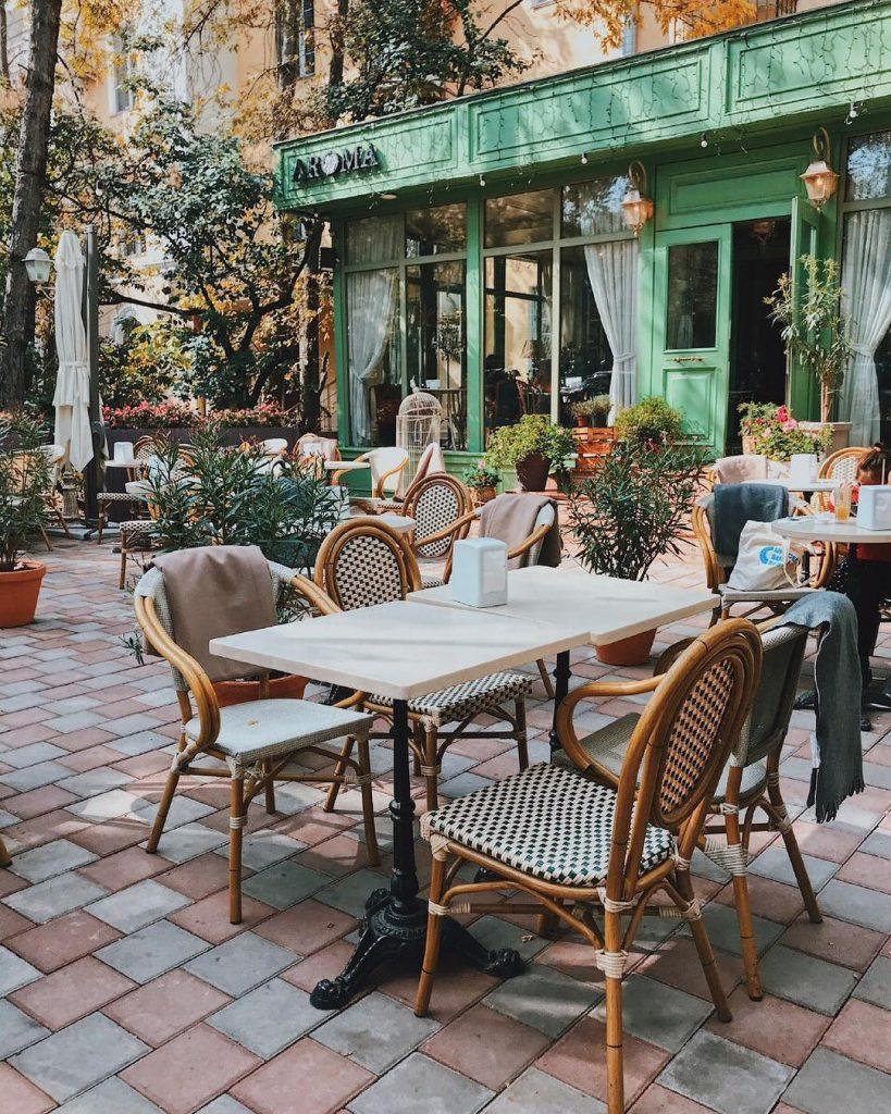 Арома летние террасы Алматы летники еда рестораны кафе