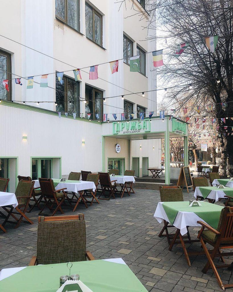 Дружба Алматы кафе летняя терраса летник город