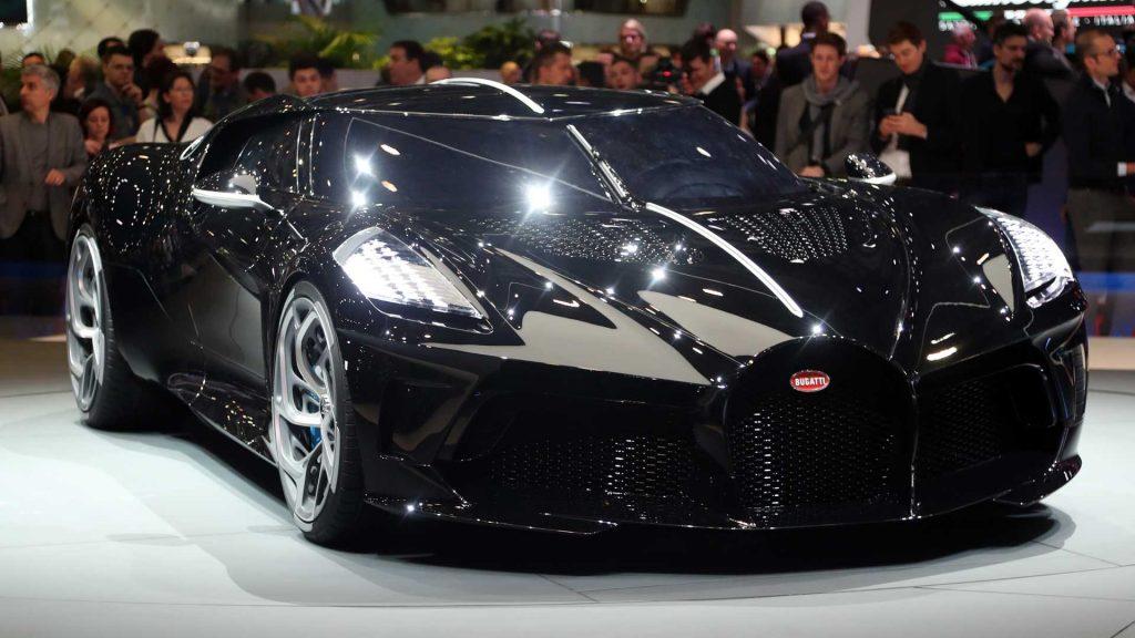 Женевский автосалон Bugatti La Voiture Noire 2019 гиперкар