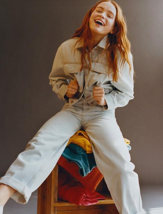 Финн Вулфхард Сейди Синк Очень странные дела Pull & Bear одежда мода капсульная коллекция гардероб