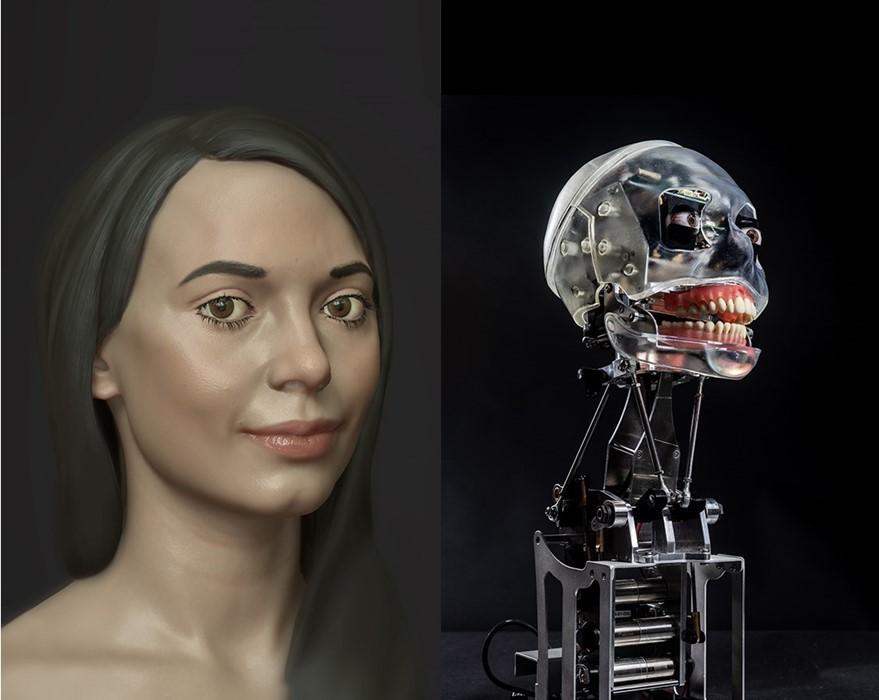 Ai-Da художница-робот Оксфорд выставка искусство