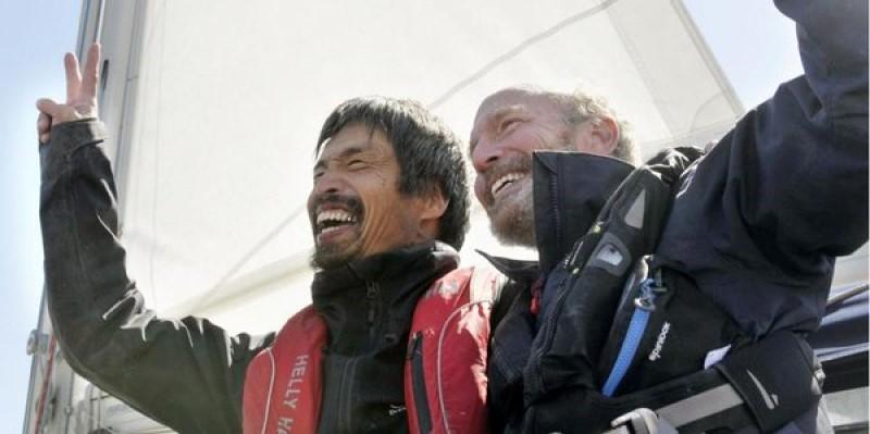 Мицухиро Ивамото Даг Смит слепой японец переплыл Тихий океан
