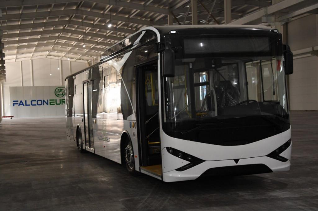 электроавтобусы общественный транспорт Алматы Казахстан транспортные средства город