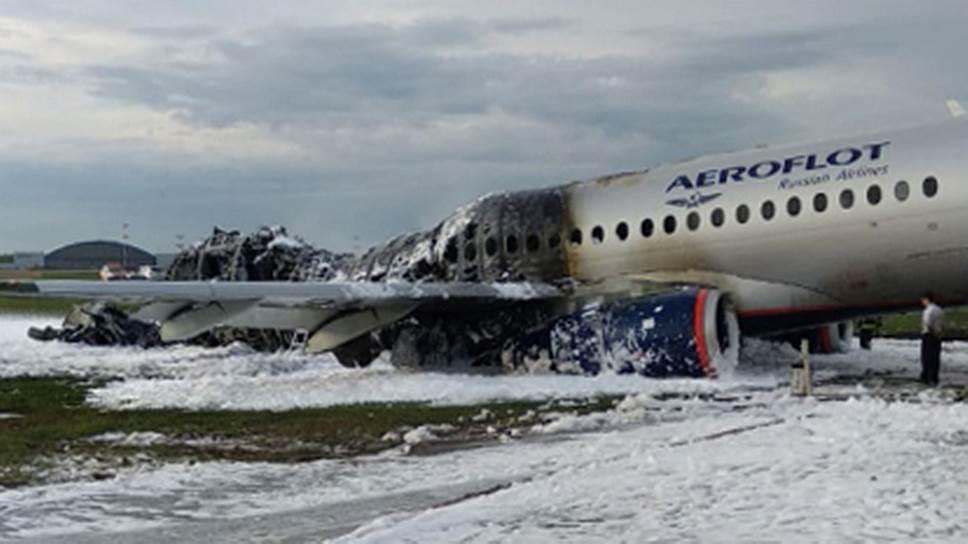 самолет сгорел при посадке москва шереметьева Sukhoi Superjet 100
